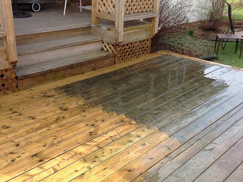 nettoyage-pression-patio-bois